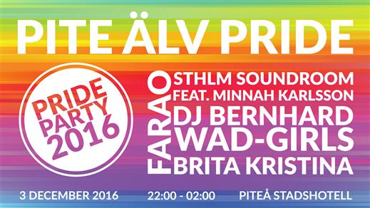 Bild för Pride Party - Pite Älv Pride 2016, 2016-12-03, Piteå Stadshotell - Röda Rummet