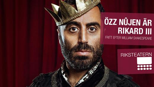 Bild för Özz Nûjen är RIKARD III, 2017-04-12, Söderhamns Teater