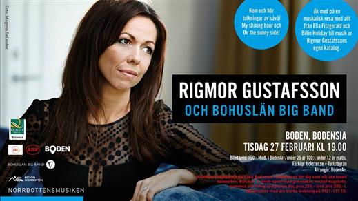 Bild för Rigmor Gustafsson Bohuslän Big Band, 2018-02-27, Bodensia