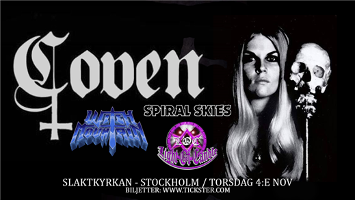 Bild för COVEN / Witch Mountain + support, 2021-11-04, Slaktkyrkan