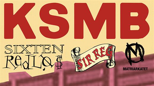 Bild för KSMB, Sixten Redlös, Sir Reg, Matriarkatet, 2017-03-18, Huskvarna Folkets Park