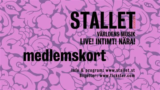 Bild för Medlemskap Stallet 2018, 2017-11-01, Stallet - Världens Musik