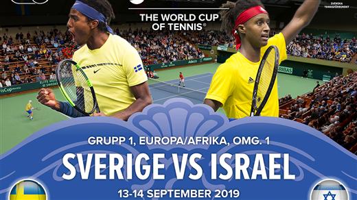 Bild för Davis Cup Sverige-Israel 13-14 september, 2019-09-13, Kungl. Tennishallen