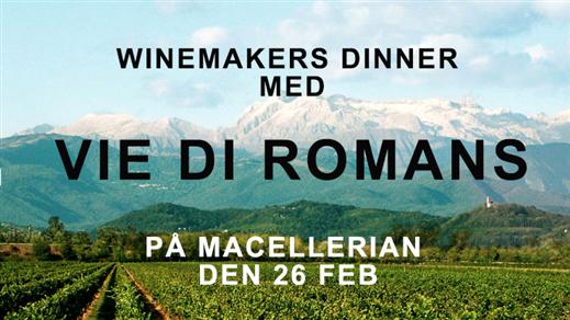 Bild för Winemakers dinner i Stockholm med Vie di Romans, 2018-02-26, Restaurang Macelleria