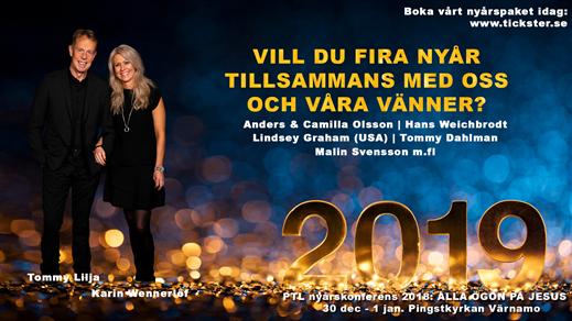 Bild för PTL Ministries Nyårskonferens 2018, 2018-12-30, Pingstkyrkan Arken Värnamo
