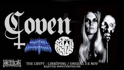Bild för COVEN / Witch Mountain / Satörnus, 2021-11-03, The Crypt LKPG