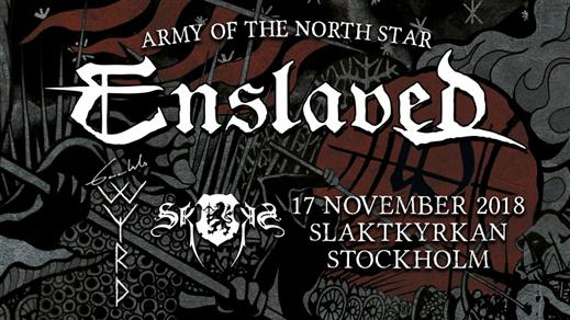 Bild för Enslaved, Gaahls Wyrd, Skogen i Stockholm, 2018-11-17, Slaktkyrkan