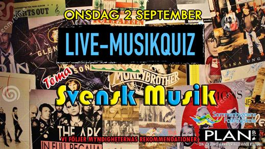 Bild för LIVE-QUIZ. TEMA: SVENSK MUSIK 2/9, 2020-09-02, Plan B