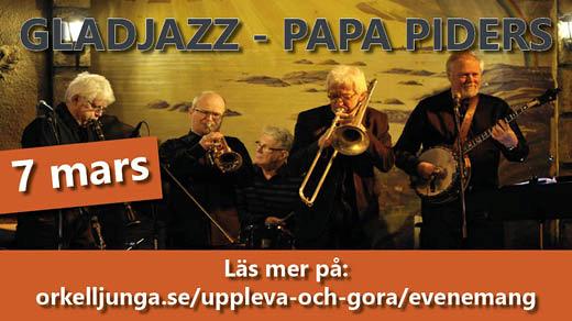 Bild för Gladjazz, Papa Piders - konsert, 2019-03-07, FORUM Örkelljunga