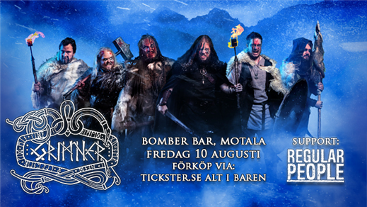 Bild för Grimner + Regular People, 2018-08-10, Bomber Bar Motala