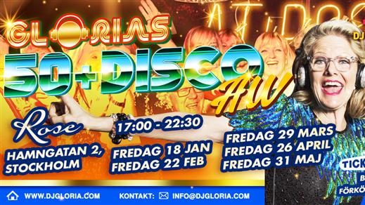 Bild för Glorias 50+ DISCO AW Stockholm 18 jan 2019, 2019-01-18, Rose Club