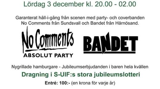 Bild för SUIF´s 100-års jubileum!, 2016-12-03, Centrumhuset Ullånger