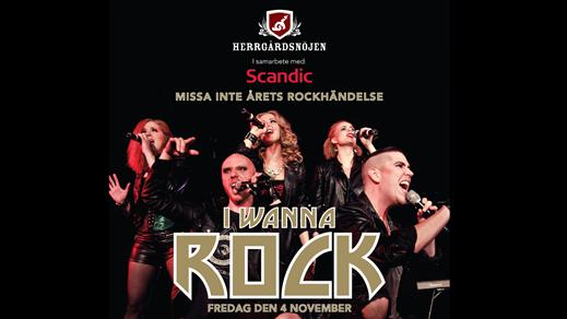 Bild för I WANNA ROCK - 3 rätters middag med rockshow 4/11, 2016-11-04, Scandic Plaza Umeå