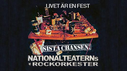 """Bild för Nationalteaterns Rockorkester """"Sista Chansen"""", 2022-02-19, Konserthuset"""