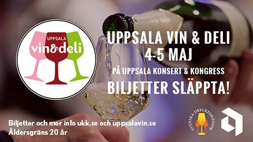 Bild för Uppsala Vin & Deli 2018, 2018-05-04, Uppsala Konsert & Kongress - hela huset