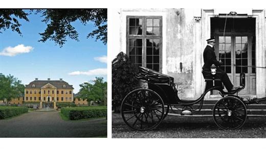 Bild för Guidning herrgården, avslutas med 1700-tals vagnar, 2021-07-06, Stiftelsen Leufsta Herrgården