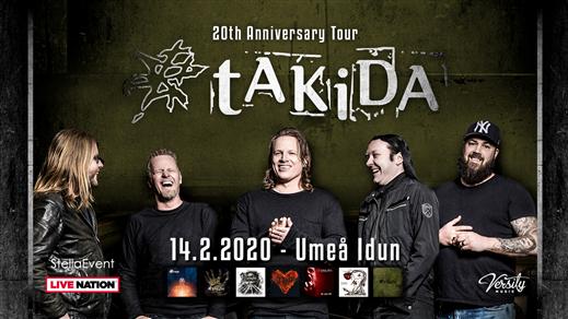 Bild för Takida - 20th Anniversary Tour, 2020-02-14, Idun, Umeå Folkets Hus