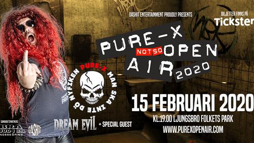 Bild för Pure-X Not So OPEN AIR, 2020-02-15, Ljungsbro Folkets Park