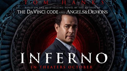 Bild för Inferno (Sal1 15år kl20:00 2h), 2016-10-20, Saga Salong 1