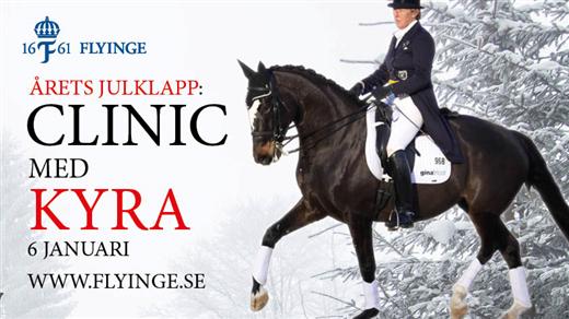 Bild för Clinic med Kyra Kyrklund, 2017-01-06, Flyinges Stora Ridhus