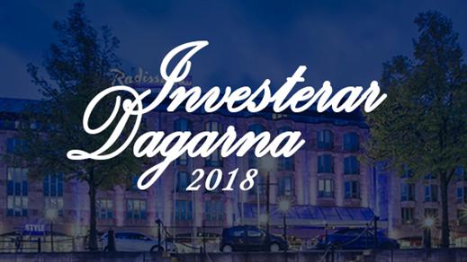 Bild för InvesterarDagarna 2018, 2018-04-28, Radisson Blu Scandinavia