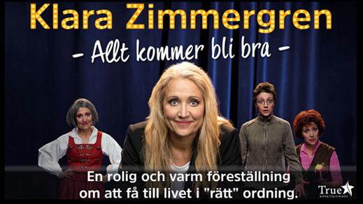 Bild för ALLT KOMMER BLI BRA - KLARA ZIMMERGREN 12/10, 2019-10-12, Hebeteatern, Folkets Hus Kulturhuset