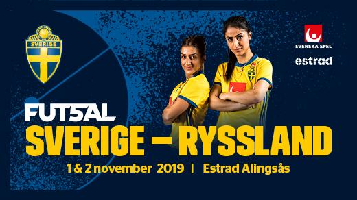 Bild för Dubbel-landskamp Futsal, 2 november, 2019-11-02, Estrad i Alingsås
