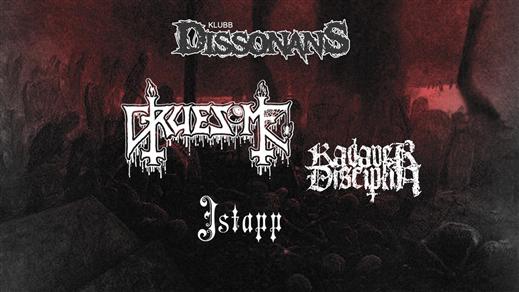 Bild för Klubb Dissonans: Gruesome (US) + Support, 2018-08-03, Sofiehof Underjord