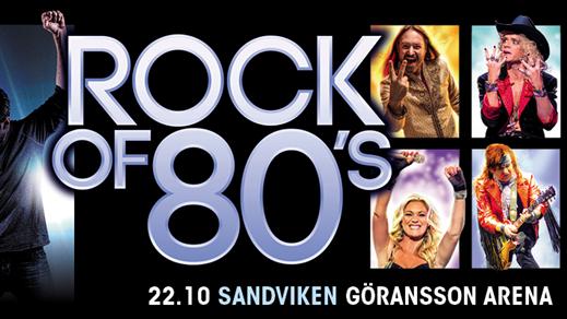 Bild för Rock of 80's, 2016-10-22, Göransson Arena / Konsert