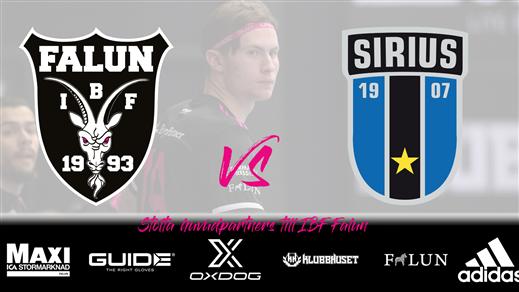 Bild för IBF Falun - IK Sirius IBK (Träningsmatch Herr), 2021-08-18, Guide Arena