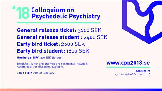 Bild för Colloquium on Psychedelic Psychiatry 2018, 2018-10-13, Elite Hotel Marina Tower