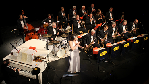Bild för Konsert: En kväll på Broadway med Köpings storband, 2019-09-28, Kulturhuset Finspång, Stora Salongen