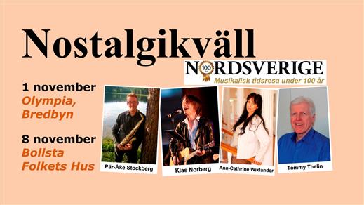 Bild för Nostalgikväll 8 november, 2019-11-08, Bollsta Folkets Hus