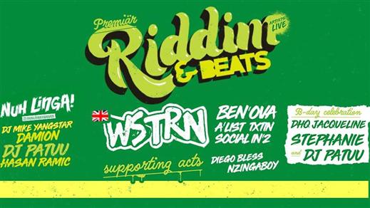 Bild för WSTRN (UK) / Premiär Klubb Riddim & Beats, 2018-01-27, Kraken Rökerigatan 1D