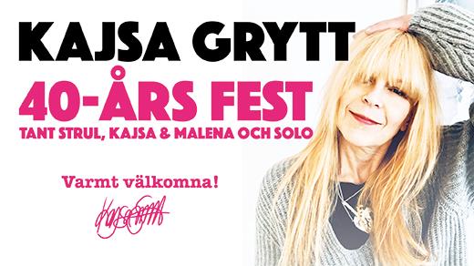 Bild för Kajsa Grytt - 40 år som artist., 2019-11-22, Musikens Hus Stora Scen