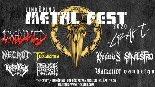 Bild för Linköping Metal Fest 2020 - Fredag, 2020-08-28, The Crypt LKPG