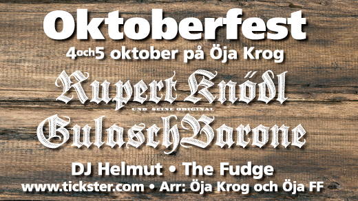 Bild för OKTOBERFEST Ystad 2019, 2019-10-04, Öja Krog