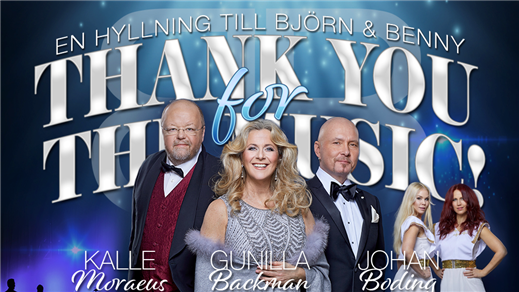 Bild för THANK YOU FOR THE MUSIC - En hyllning till B & B, 2021-04-10, Östrabo teater