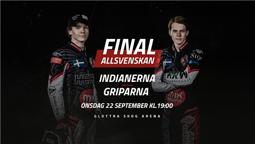 Bild för Allsvenskan Final 2 Indianerna-Griparna, 2021-09-22, Glottra Skog Arena