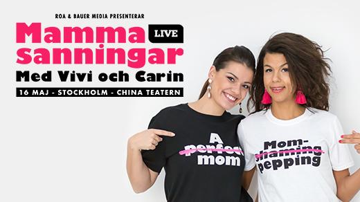 Bild för Mammasanningar med Vivi och Carin LIVE, 2020-05-16, China Teatern