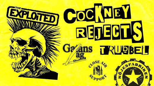 Bild för The Exploited & Cockney Rejects + support, 2019-04-05, Nöjesfabriken