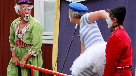 Bild för Barnsöndag på Tonsalen - Clownen Manne och Co, 2018-09-09, Teater Sláva, Tonsalen