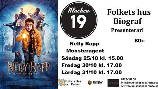 Bild för Nelly Rapp - Monsteragent (Sv. txt), 2020-10-31, Biosalongen Folkets Hus