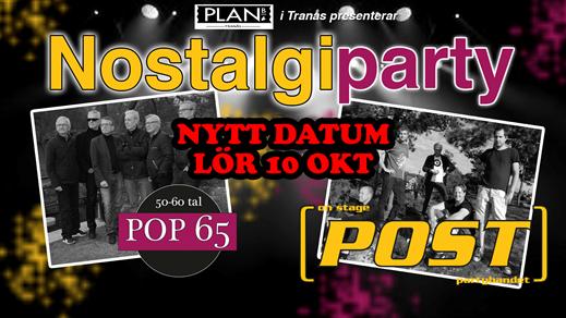 Nostalgiparty - Plan B - Tranås - 13 mars 2021