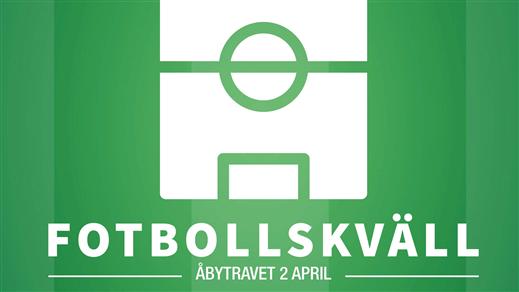 Bild för Travtävlingar med Fotbollskväll, 2020-04-02, Åby Arena