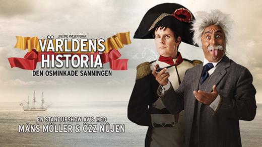 Bild för Özz Nûjen & Måns Möller: Världens Historia, 2019-02-09, UKK - Stora salen