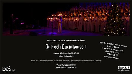 Bild för Midgårdsskolans Jul och Luciakonsert, 2019-12-13, Idun, Umeå Folkets Hus