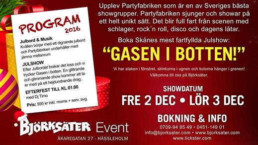 Bild för Julbord & Show 2016, 2016-12-02, Björksäter Event Hässleholm