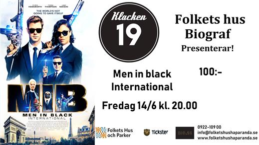 Bild för Men In Black International, 2019-06-14, Biosalongen Folkets Hus