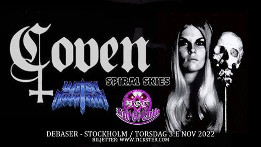 Bild för COVEN / Witch Mountain + support, 2022-11-03, Debaser Strand